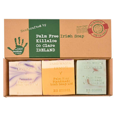 Handcrafted Palm Free Irish Soap – Artisan Gift Pack Of 3 Soaps
