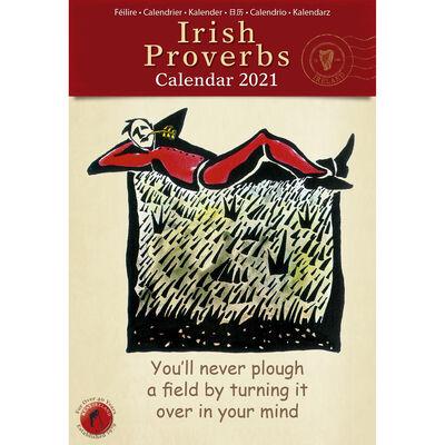 Slim Calendar 2021 with 12 Well Know Irish Proverbs