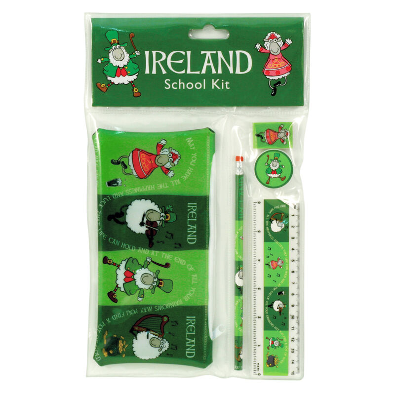 Cead Mile Failte Sheep Of Ireland School Kit With 4 Sheep Design
