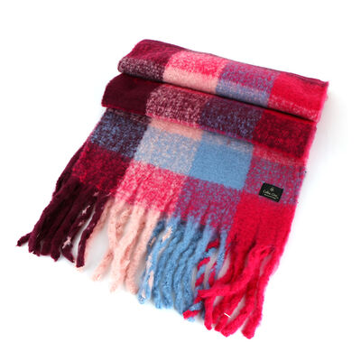 Celtic Ore Pink Red Blue White Colour Soft Oversized Wrap Scarf