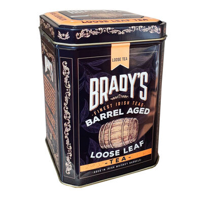 CLEARANCE - Brady's Barrel Aged Irish Loose Leaf Whiskey Tea Tin, 100G ( Two Pack)