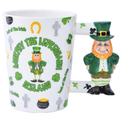 Luck Of The Irish Mug With Murphy The Leprechaun Handle Design