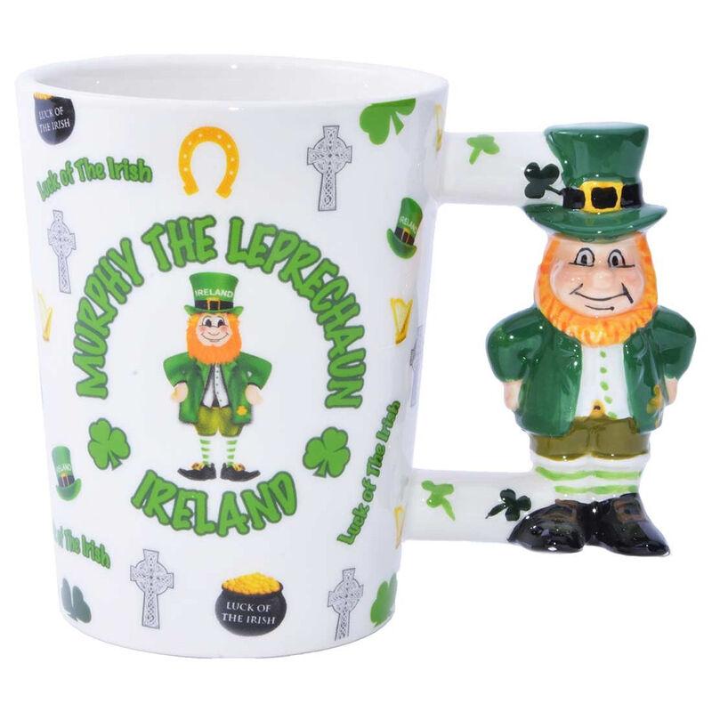Luck Of The Irish Mug With Murphy The Leprechaun Handle Design