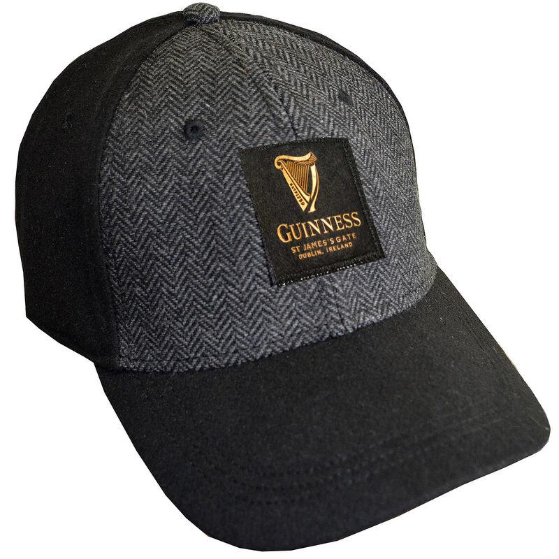 Black Guinness Embossed Tweed Baseball Cap
