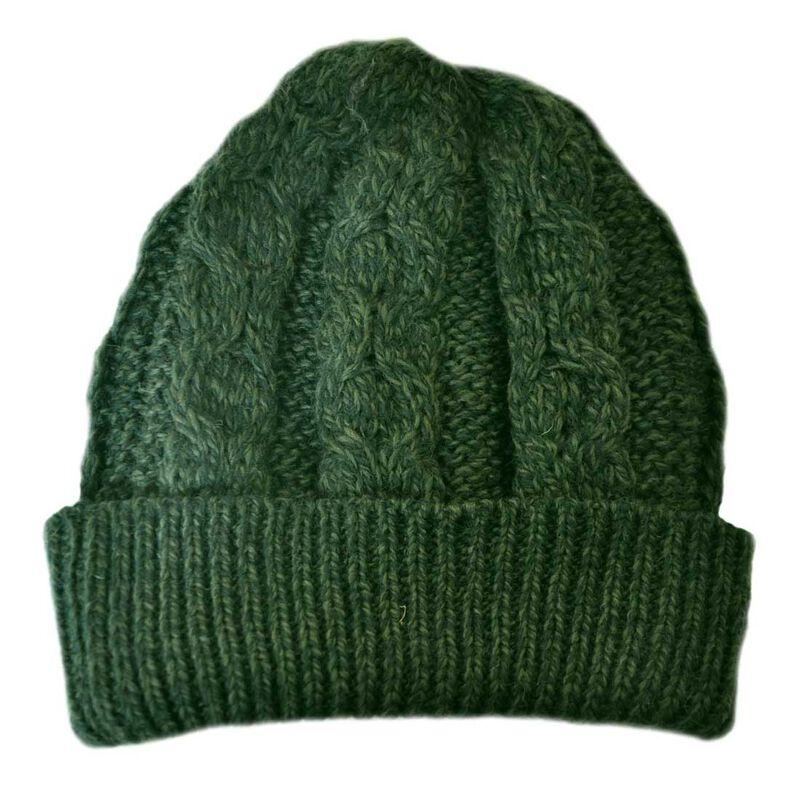 Merino Wool Knit Hat  Army Green