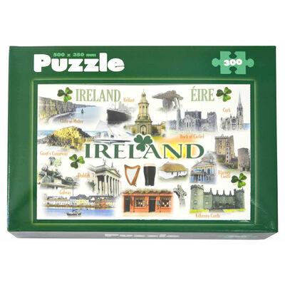 Ireland Famous Landmarks Designed 300 Piece Puzzle