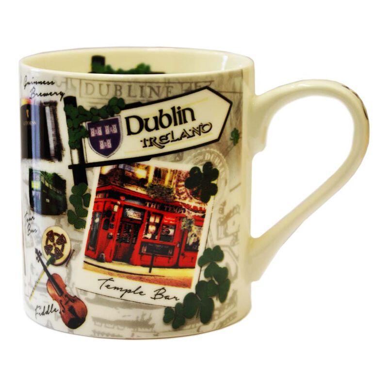Destination Dublin Mug  Showing Famous Landmarks And Icons Of Dublin