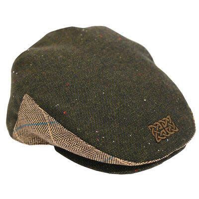 Patrick Francis Ireland Green Celtic Knot Designed Kids Flat Cap