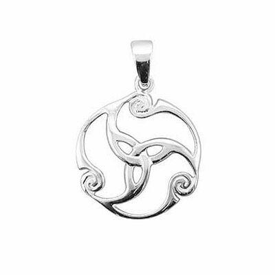 Hallmarked Sterling Silver Triskele Pendant