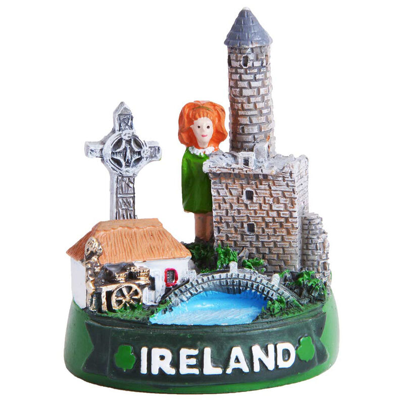 78Mm Ireland Collage Ornament With Ireland Sign And Irish Dancer