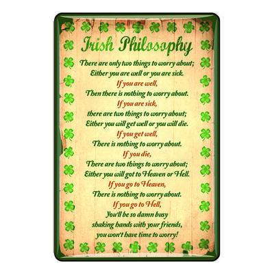 Ireland Epoxy Magnet Irish Philosophy With Green Shamrock Design