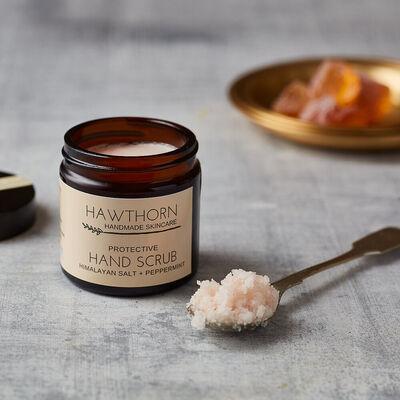 Hawthorn Handmade Skincare Protective Hand Scrub Himalayan Salt & Peppermint, 60ml