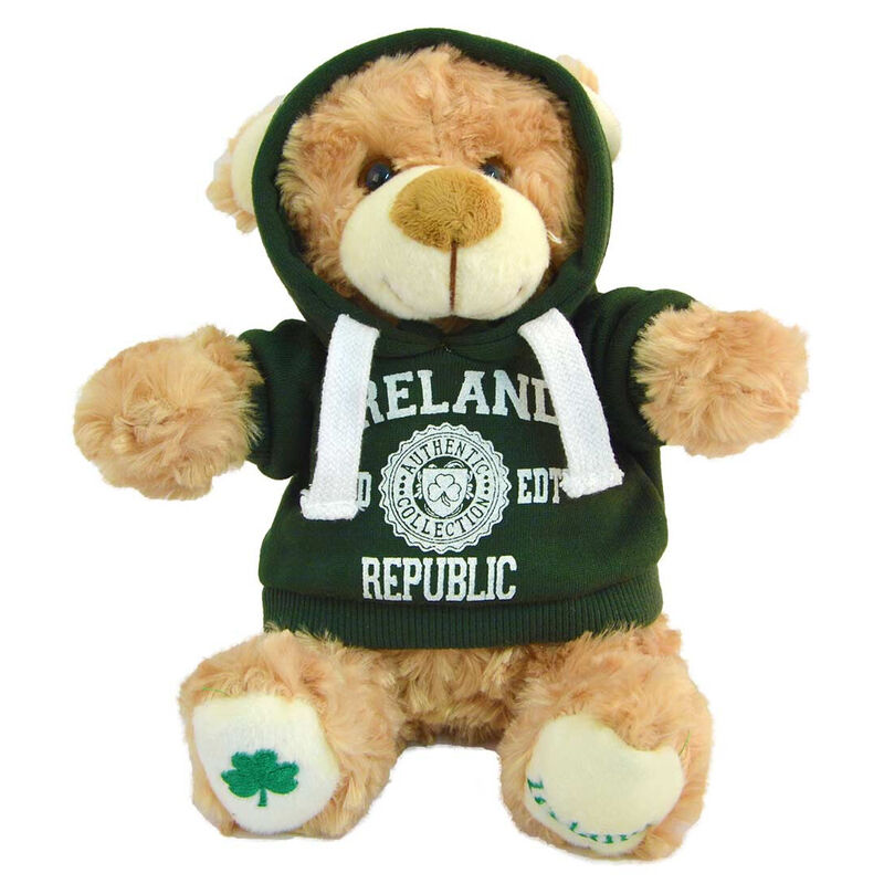 Cream 20cm Teddy Bear With Ireland Republic LTD EDT With Hooded Top