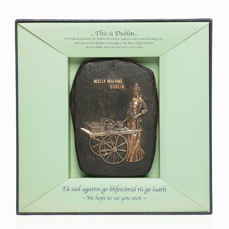 Framed Bronze Plaque Of Molly Malone Statue