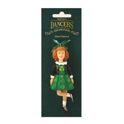 Irische Tänzer handgemalte Dekorationen hängend