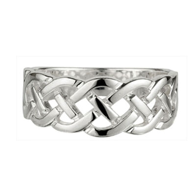 Celtic Woven Ladies Ring  Hallmarked Sterling Silver