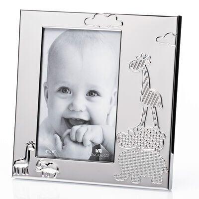 "Newgrange Baby Silver Plated Animals Photo Frame 6""x 4"""