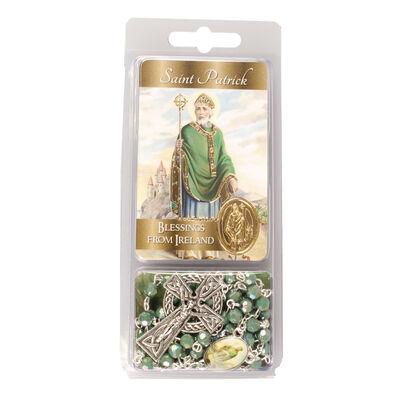 St. Patrick-Rosenkranz mit frei beweglichen Acryl-Perlen