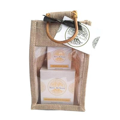 Berry Be Beauty Lemongrass Candle and Hand Cream Gift Set