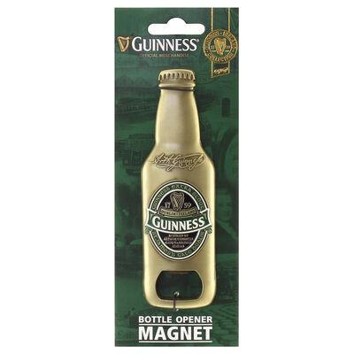 Official Guinness Ireland Bottle Shaped Bottle Opener Magnet  Gold Colour