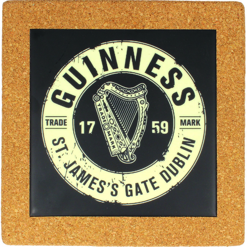 Guinness Official Merchandise Ceramic Pot Stand With Bottle Top Design