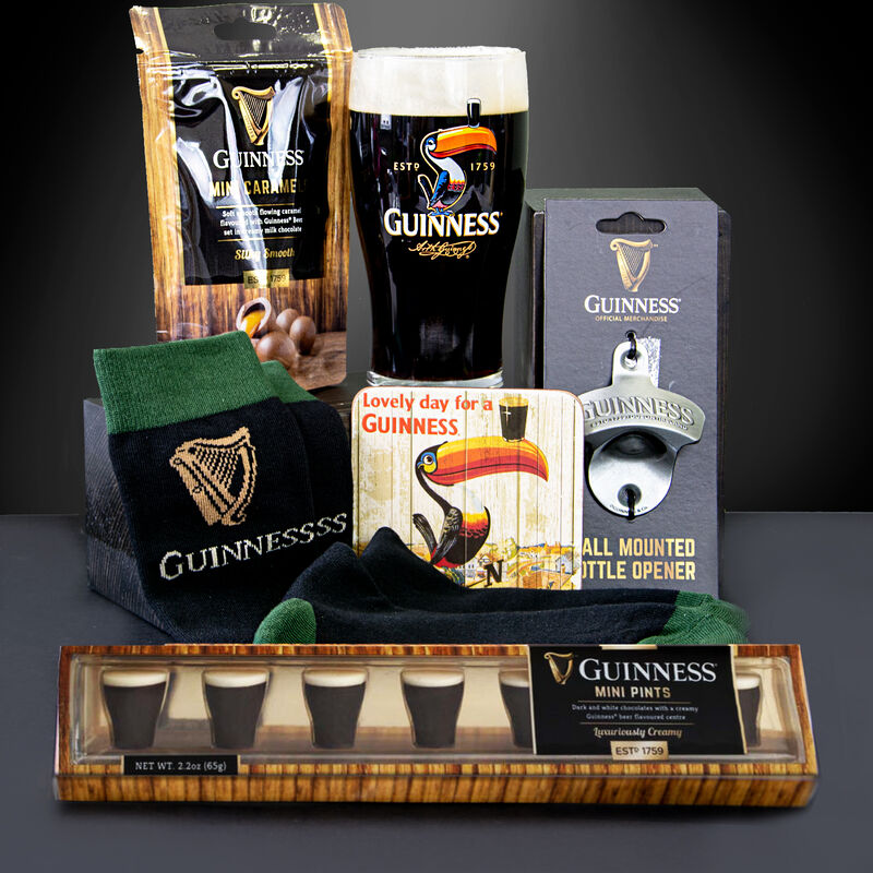 Official Guinness Gift Set With Chocolates, Bottle Opener & Toucan Pint Glass