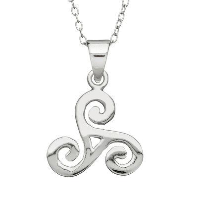 Hallmarked Sterling Silver Medium Spiral Pendant