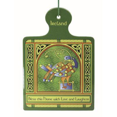 Celtic Peacock Ireland Pot Stand With Coloured Trinity Irish Design