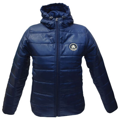 Navy Ireland Kids Puff Hooded Jacket With Shamrock Crest