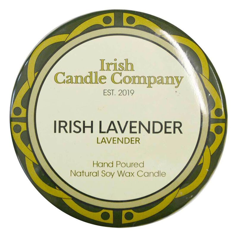 Irish Candle Company Small Irish Lavender Natural Soy Wax Candle