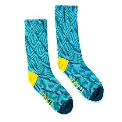 Irish Socksciety Feck It Socks - Mint Colour With Yellow Feck It Design
