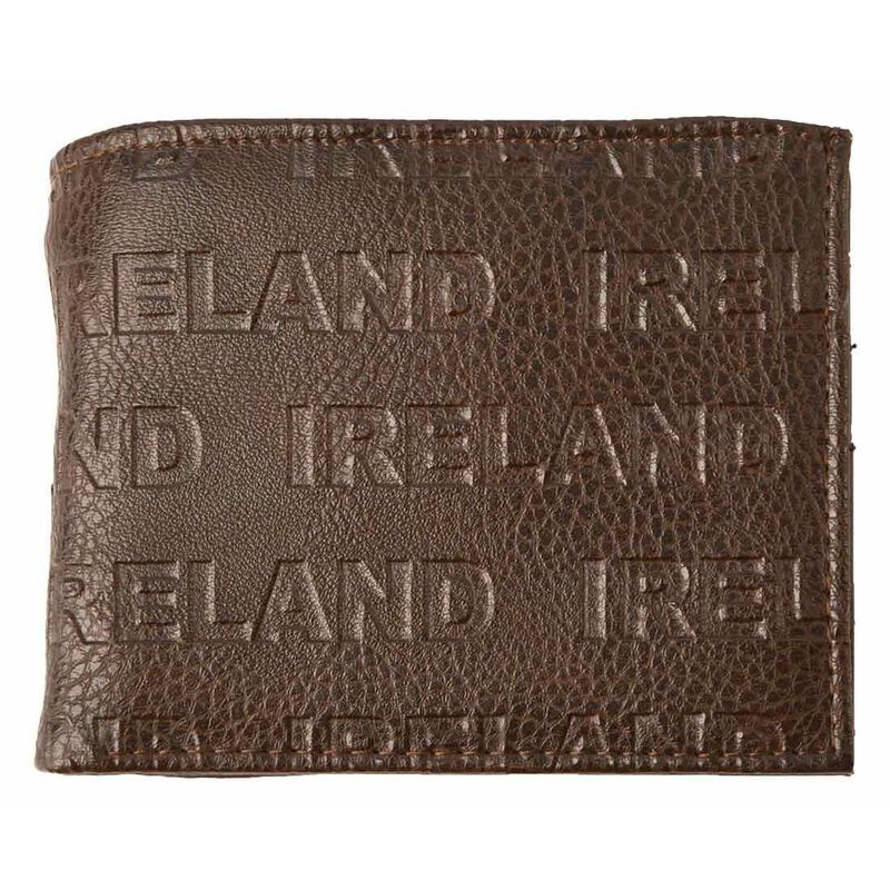 McCabe Collection Ireland Embossed Genuine Leather Wallet  Brown Colour