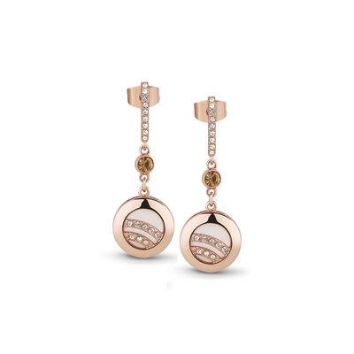 Newbridge Silverware Rose Gold Plated Drop Earrings