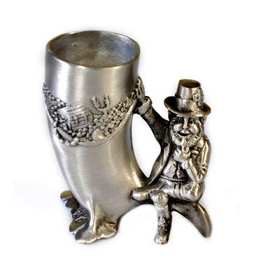 Mullingar Pewter Drinks Measure With Leprechaun Design