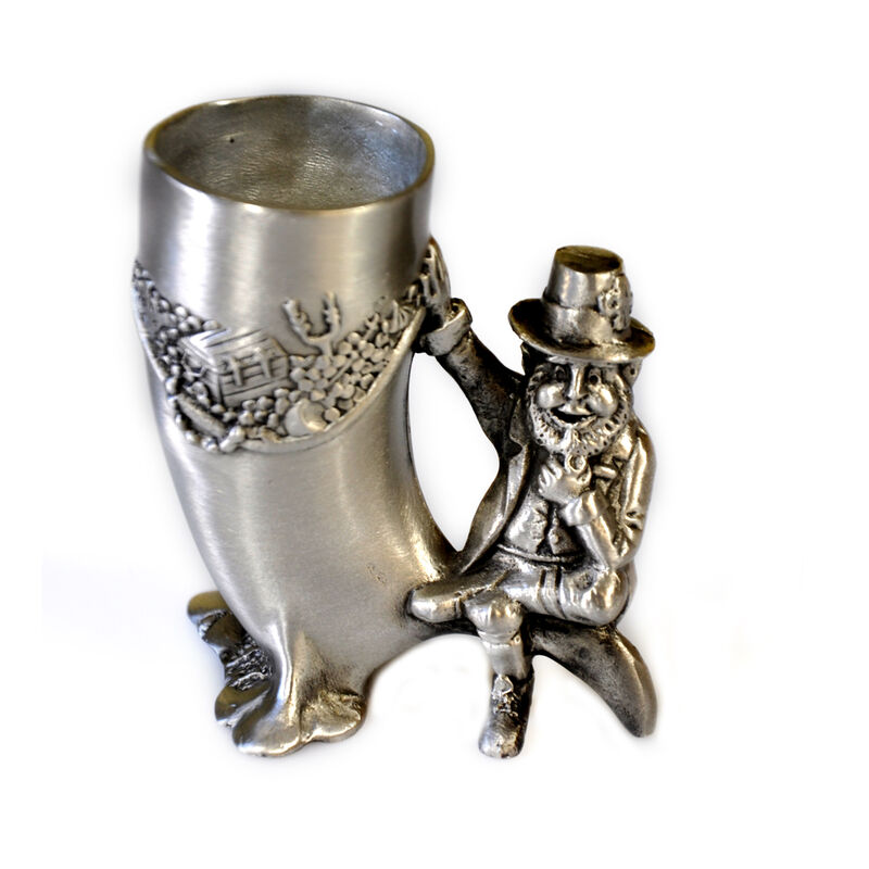 Mullingar Pewter Drinks Measure With Leprechaun Design