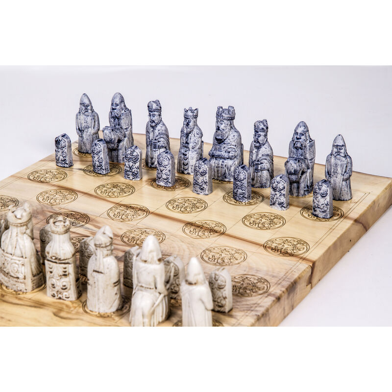 Chess Board with O'Gowna Limestone Pieces in Presentation Box