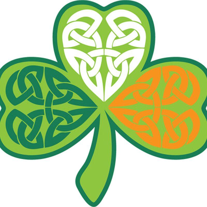 Celtic Design Shamrock Sticker