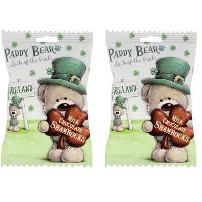 Paddy Bear Chocolate Shamrocks  Two Pack