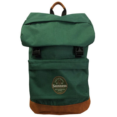 Official Guinness Bottle Green Ireland Label Backpack Designed With A Suede Base