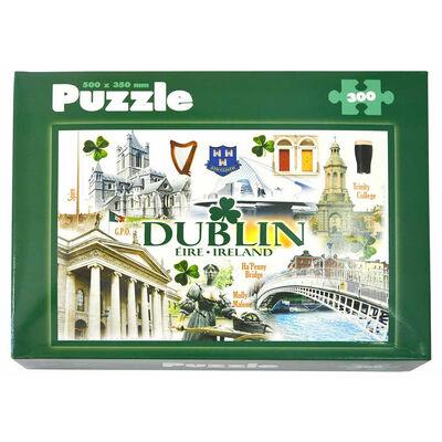 Dublin Famous Landmarks Designed 300 Piece Puzzle