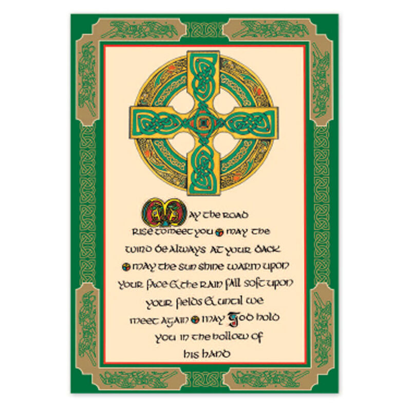 Irish T-Towel With Proverbs And Celtic Cross