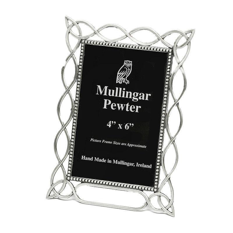 "Mullingar Pewter 4"" x 6"" Photo Frame With Celtic Style Design"