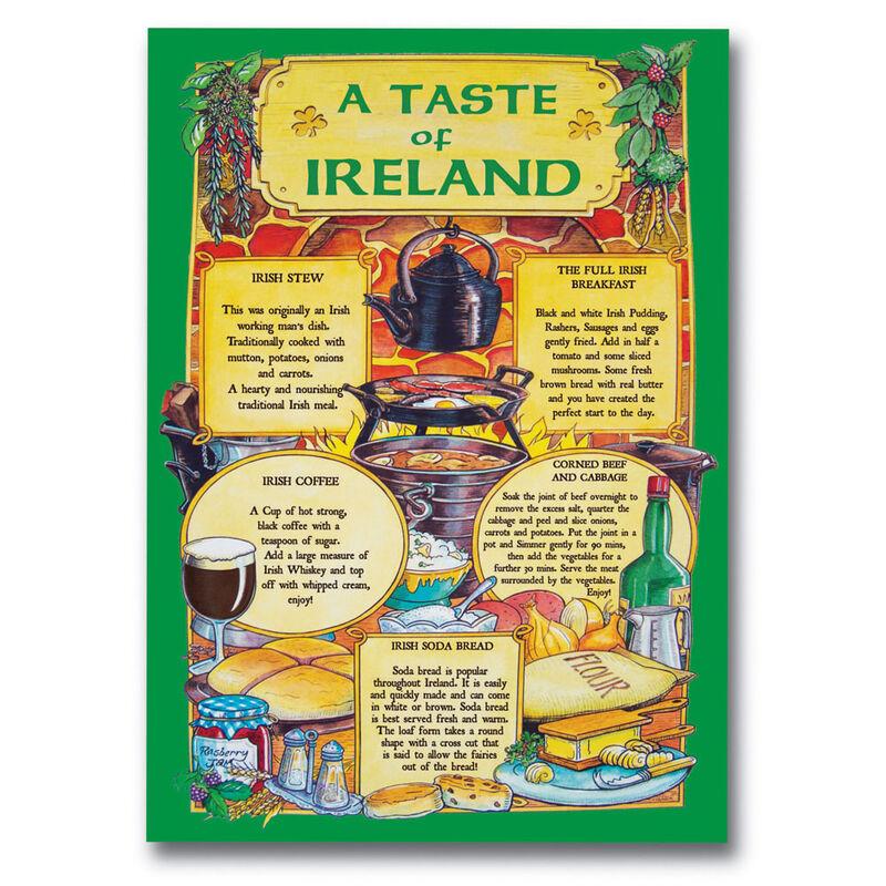 Irish T-Towel With Recipes From Ireland