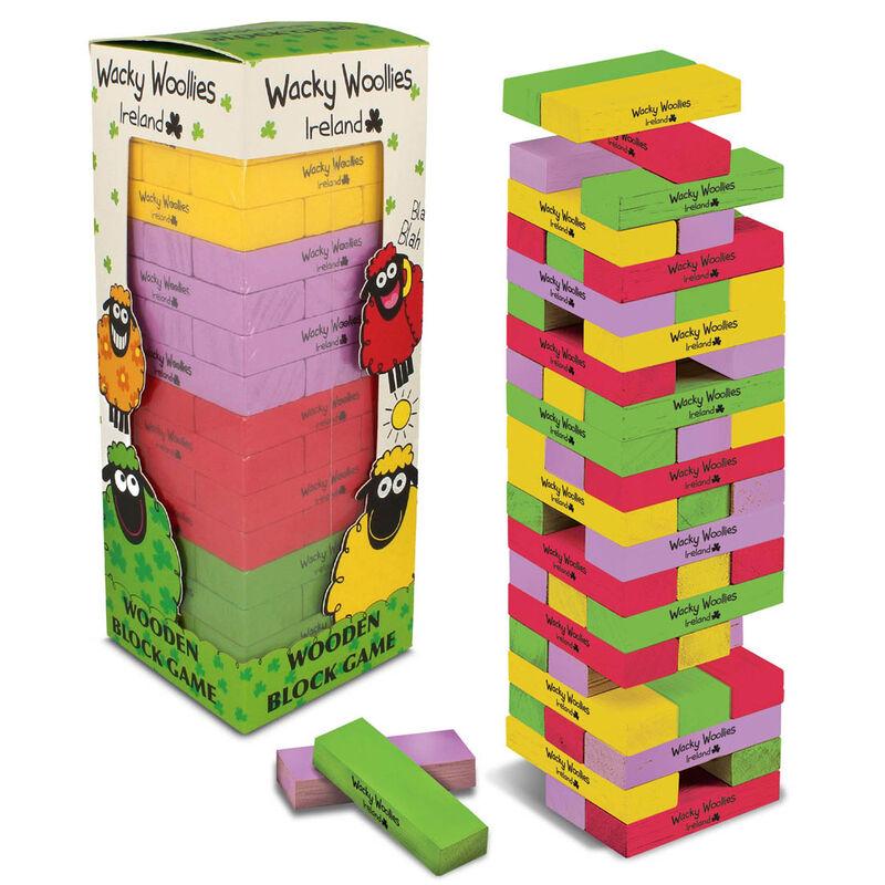 Wacky Woollies Multi Coloured Wooden Block Game