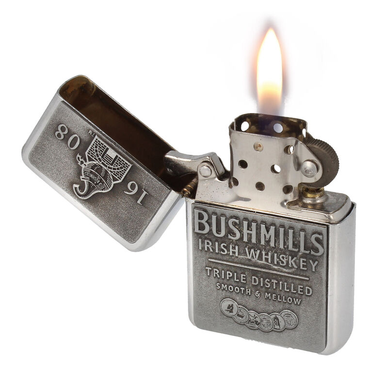 Bushmills Irish Whiskey Logo Designed Metal Oil Lighter