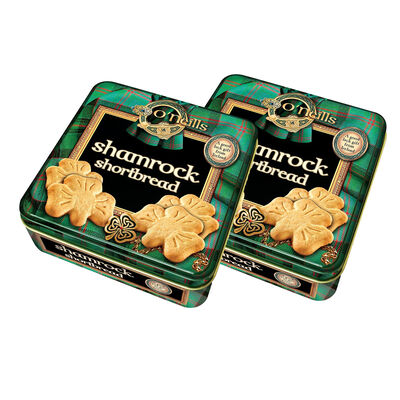 CLEARANCE - O'Neill's Shamrock Shaped Shortbread In A Tin 80G (Two Pack)