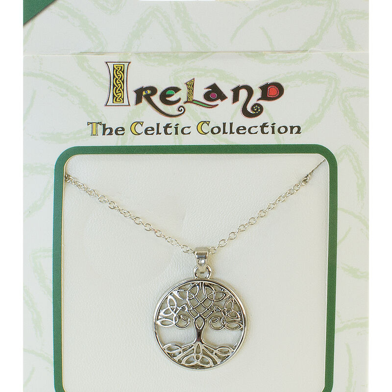 Silver Plated Celtic Collection Pendant with Celtic Tree of Life