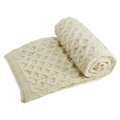 Creamy 100% Merino Wool Scarf  190Cm X 22Cm Onesize Fits All