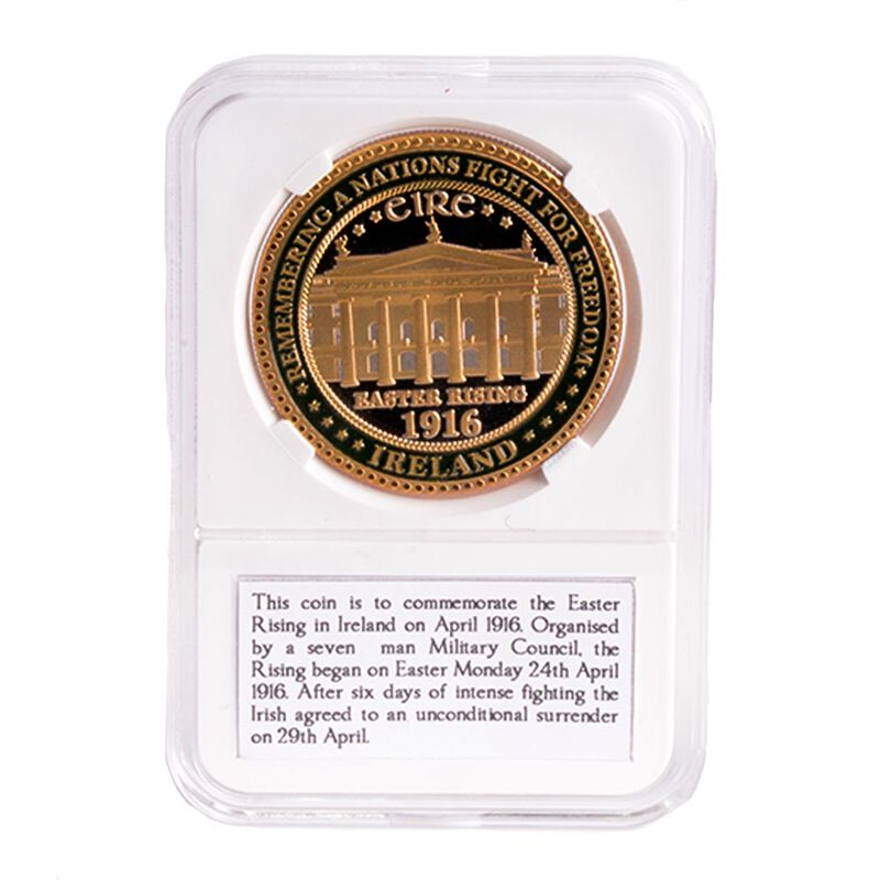 1916 Easter Rising Commemoration Token With Image Of GPO  In Plastic Box