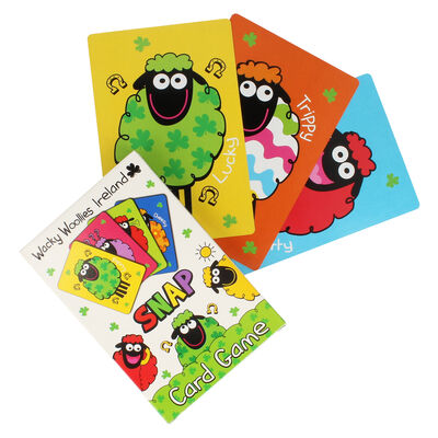 Wacky Woollies Ireland Designed Snap Card Game With Coloured Sheep